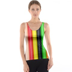 Colorful Striped Background Wallpaper Pattern Tank Top