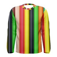 Colorful Striped Background Wallpaper Pattern Men s Long Sleeve Tee
