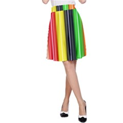 Colorful Striped Background Wallpaper Pattern A Line Skirt