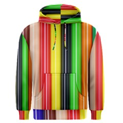 Colorful Striped Background Wallpaper Pattern Men s Pullover Hoodie