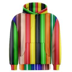 Colorful Striped Background Wallpaper Pattern Men s Zipper Hoodie