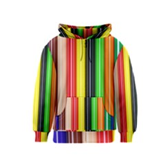 Colorful Striped Background Wallpaper Pattern Kids  Zipper Hoodie