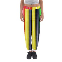 Colorful Striped Background Wallpaper Pattern Women s Jogger Sweatpants