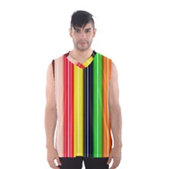 Colorful Striped Background Wallpaper Pattern Men s Basketball Tank Top