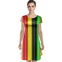Colorful Striped Background Wallpaper Pattern Cap Sleeve Nightdress