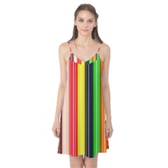 Colorful Striped Background Wallpaper Pattern Camis Nightgown