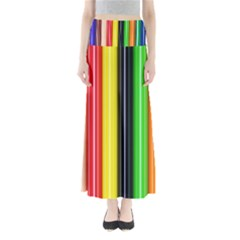 Colorful Striped Background Wallpaper Pattern Maxi Skirts