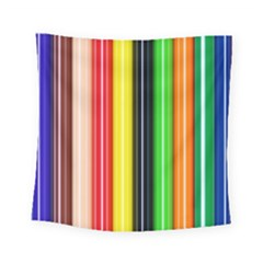 Colorful Striped Background Wallpaper Pattern Square Tapestry (small)
