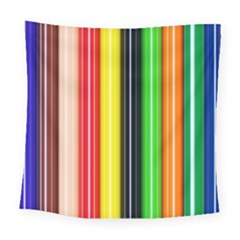 Colorful Striped Background Wallpaper Pattern Square Tapestry (large)