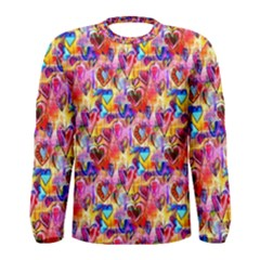 Spring Hearts Bohemian Artwork Men s Long Sleeve Tee