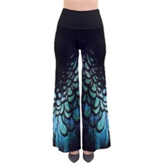 blue and green feather collier Pants