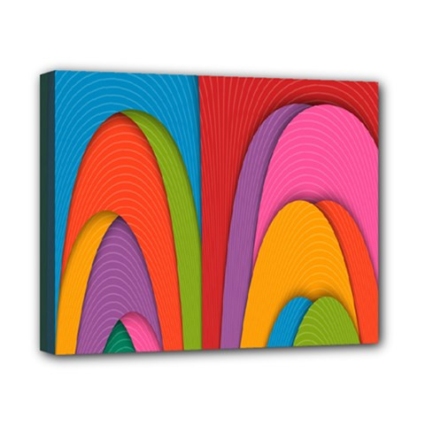 Modern Abstract Colorful Stripes Wallpaper Background Canvas 10  X 8