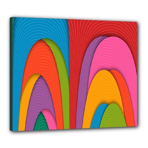Modern Abstract Colorful Stripes Wallpaper Background Canvas 24  X 20