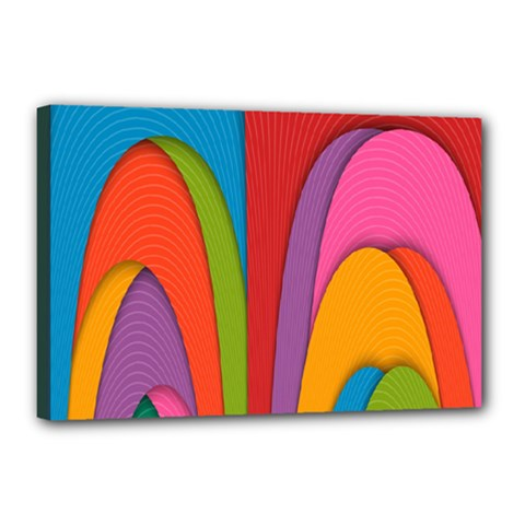 Modern Abstract Colorful Stripes Wallpaper Background Canvas 18  X 12