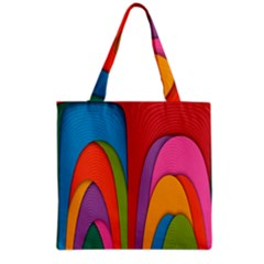 Modern Abstract Colorful Stripes Wallpaper Background Grocery Tote Bag