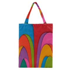 Modern Abstract Colorful Stripes Wallpaper Background Classic Tote Bag