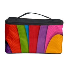 Modern Abstract Colorful Stripes Wallpaper Background Cosmetic Storage Case