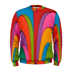 Modern Abstract Colorful Stripes Wallpaper Background Men s Sweatshirt