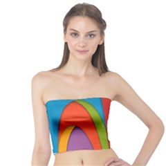 Modern Abstract Colorful Stripes Wallpaper Background Tube Top