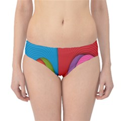 Modern Abstract Colorful Stripes Wallpaper Background Hipster Bikini Bottoms