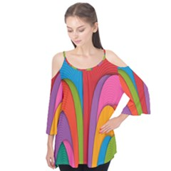 Modern Abstract Colorful Stripes Wallpaper Background Flutter Tees