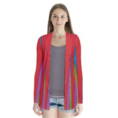 Modern Abstract Colorful Stripes Wallpaper Background Cardigans
