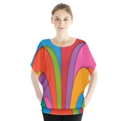 Modern Abstract Colorful Stripes Wallpaper Background Blouse