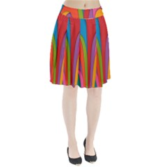Modern Abstract Colorful Stripes Wallpaper Background Pleated Skirt