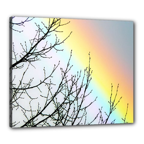 Rainbow Sky Spectrum Rainbow Colors Canvas 24  X 20