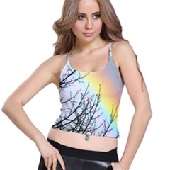 Rainbow Sky Spectrum Rainbow Colors Spaghetti Strap Bra Top