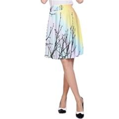 Rainbow Sky Spectrum Rainbow Colors A Line Skirt
