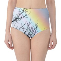 Rainbow Sky Spectrum Rainbow Colors High Waist Bikini Bottoms