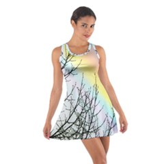 Rainbow Sky Spectrum Rainbow Colors Cotton Racerback Dress