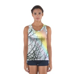 Rainbow Sky Spectrum Rainbow Colors Women s Sport Tank Top