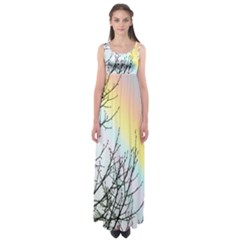 Rainbow Sky Spectrum Rainbow Colors Empire Waist Maxi Dress