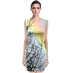 Rainbow Sky Spectrum Rainbow Colors Classic Sleeveless Midi Dress