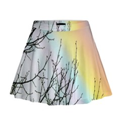 Rainbow Sky Spectrum Rainbow Colors Mini Flare Skirt