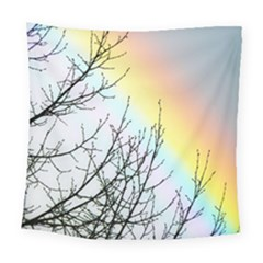 Rainbow Sky Spectrum Rainbow Colors Square Tapestry (large)