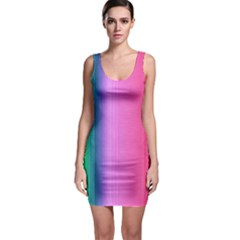 Abstract Paper For Scrapbooking Or Other Project Sleeveless Bodycon Dress