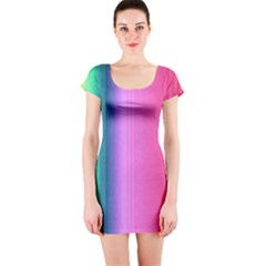 Abstract Paper For Scrapbooking Or Other Project Short Sleeve Bodycon Dress