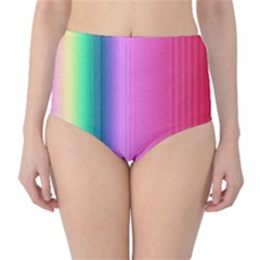 Abstract Paper For Scrapbooking Or Other Project High Waist Bikini Bottoms