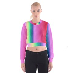 Abstract Paper For Scrapbooking Or Other Project Women s Cropped Sweatshirt