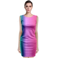 Abstract Paper For Scrapbooking Or Other Project Classic Sleeveless Midi Dress