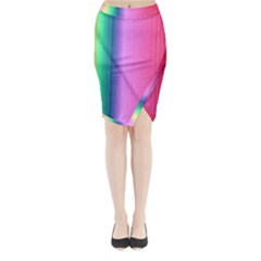 Abstract Paper For Scrapbooking Or Other Project Midi Wrap Pencil Skirt