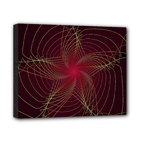 Fractal Red Star Isolated On Black Background Canvas 10  X 8