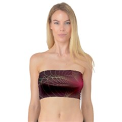 Fractal Red Star Isolated On Black Background Bandeau Top