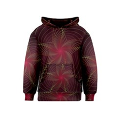 Fractal Red Star Isolated On Black Background Kids  Pullover Hoodie