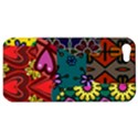Digitally Created Abstract Patchwork Collage Pattern Apple iPhone 5 Hardshell Case View1