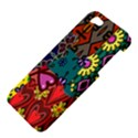 Digitally Created Abstract Patchwork Collage Pattern Apple iPhone 5 Hardshell Case View4