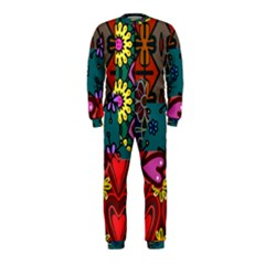Digitally Created Abstract Patchwork Collage Pattern OnePiece Jumpsuit (Kids)